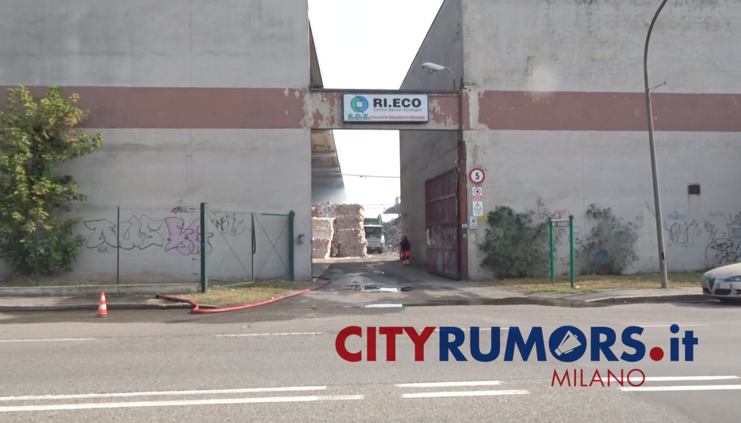 incendio Rieco Novate Milanese