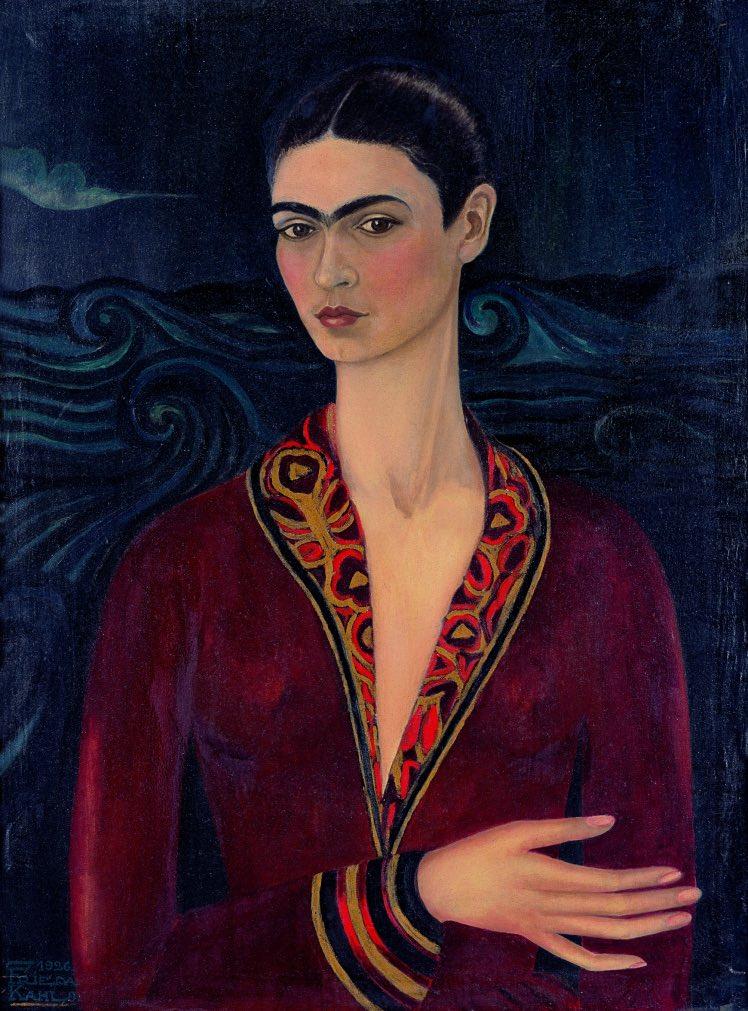Frida Khalo_Autoritratto con vestito di velluto